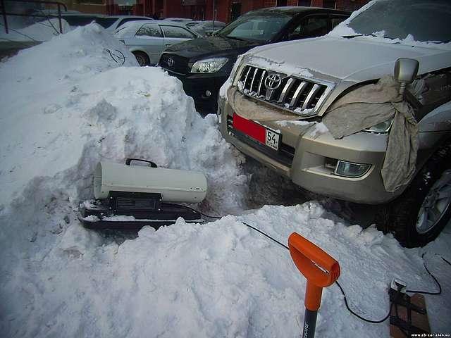 Как отогреть двигатель в мороз своими руками 3